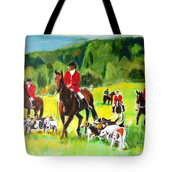 Countryside Hunt Tote Bag