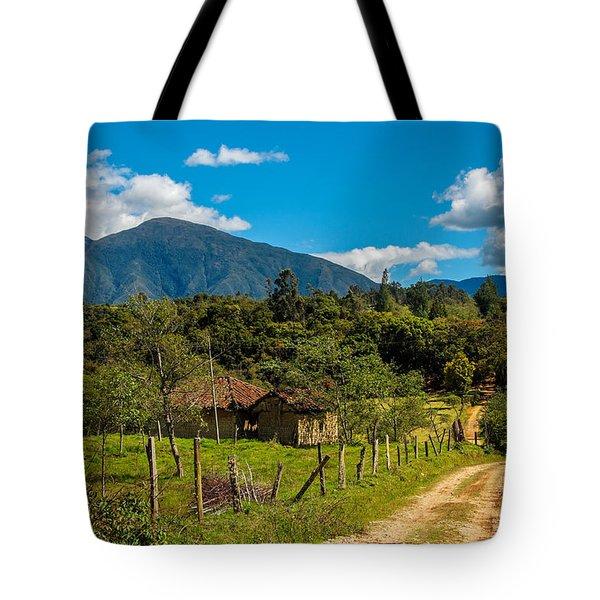 Countryside In Boyaca Colombia Tote Bag by Jess Kraft