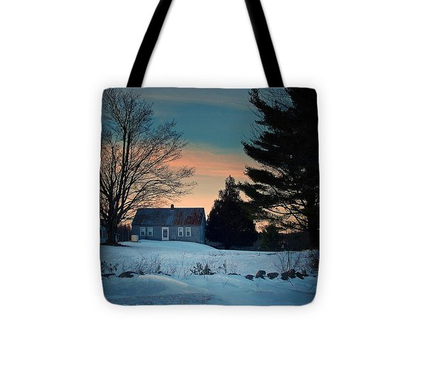 Countryside Winter Evening Tote Bag by Joy Nichols