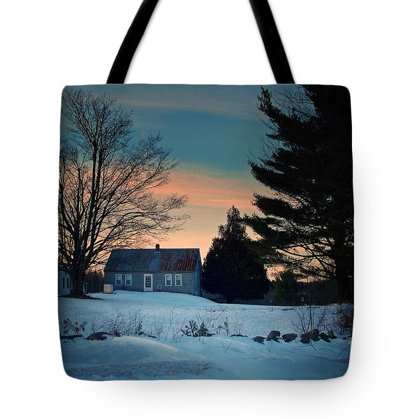 Countryside Winter Evening Tote Bag