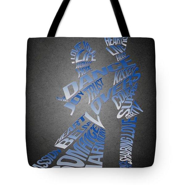 Couple Love Typography Tote Bag by Georgeta Blanaru