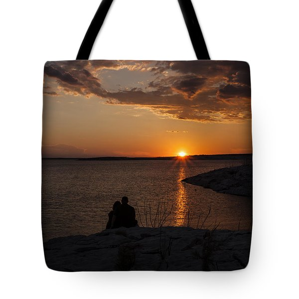 Couple's Sunset In The Desert Tote Bag