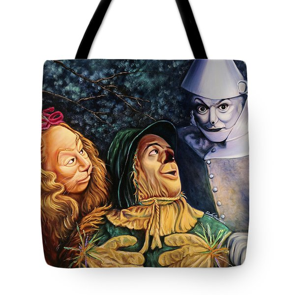 Courage Heart And Brains Tote Bag by Cindy Anderson