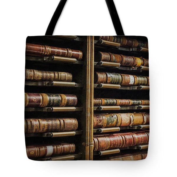 Courthouse Achival Books Tote Bag