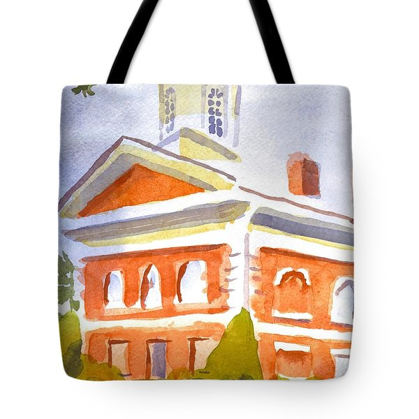 Courthouse With Picnic Table Tote Bag by Kip DeVore