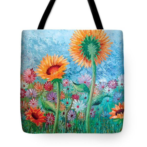 Courting Sunflowers Tote Bag