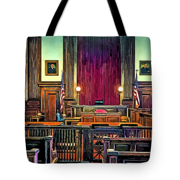 Courtroom Tote Bag by Susan Savad
