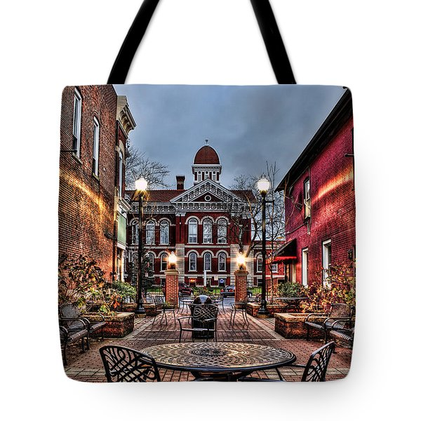 Courtyard Courthouse Tote Bag