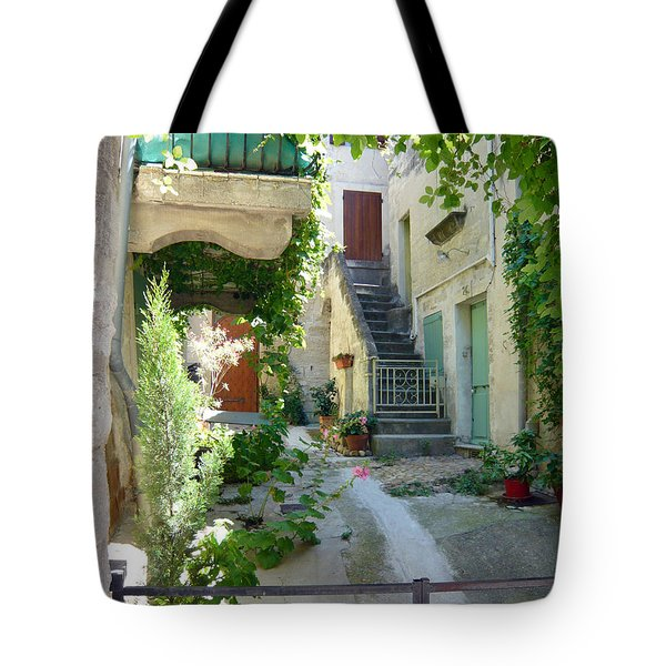 Courtyard Tote Bag by Lauren Leigh Hunter Fine Art Photography