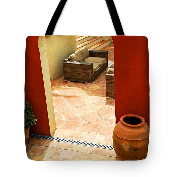 Courtyard Of A Villa Tote Bag by Elena Elisseeva