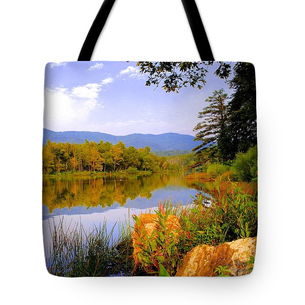 Cove Lake State Park  Tote Bag by Frozen in Time Fine Art Photography
