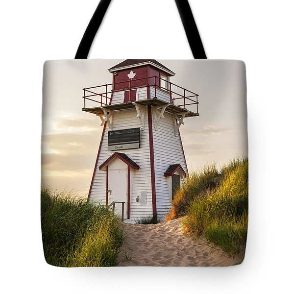 Covehead Harbour Lighthouse Tote Bag