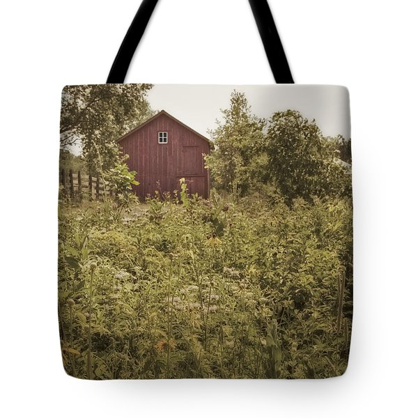 Covered Barn Tote Bag by Margie Hurwich