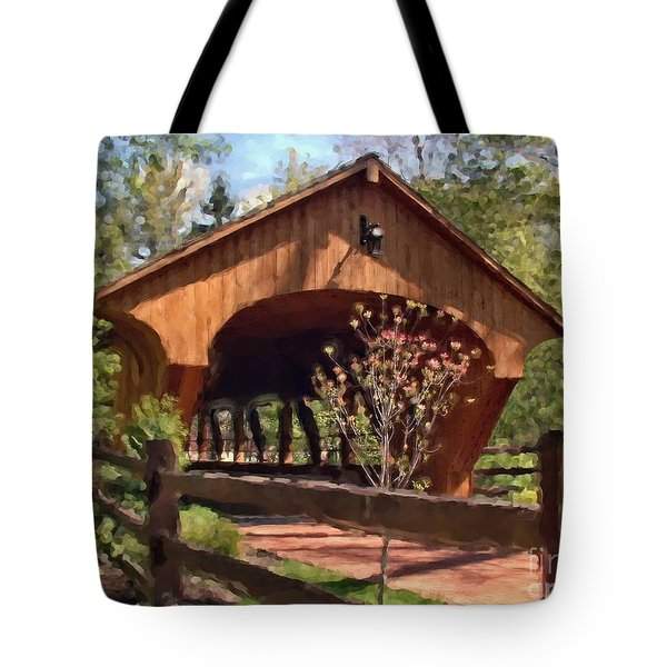 Covered Bridge At Olmsted Falls-spring Tote Bag
