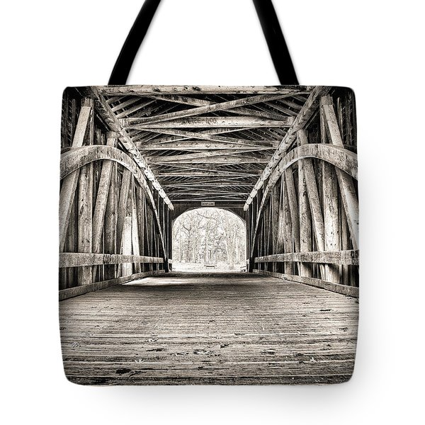 Covered Bridge B N W Tote Bag