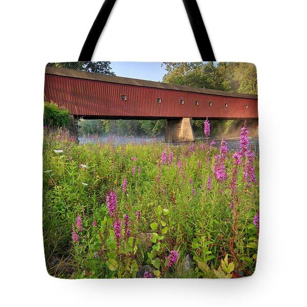 Covered Bridge West Cornwall Tote Bag