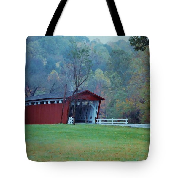Tote Bag featuring the photograph Covered Bridge by Diane Alexander