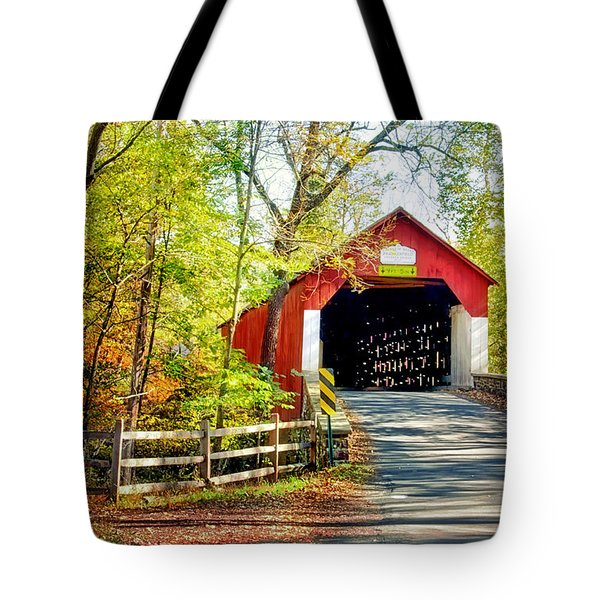 Covered Bridge In Bucks County Tote Bag