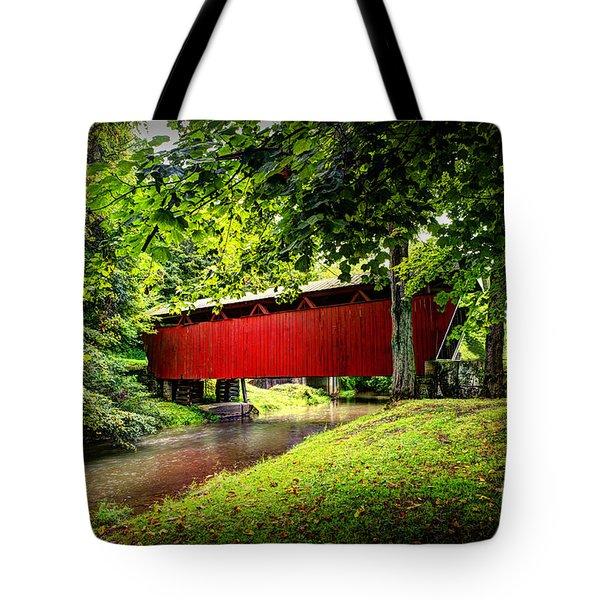 Covered Bridge In Pa Tote Bag by Dan Friend