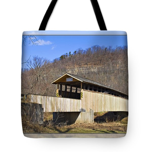Covered Bridge In Pa. Tote Bag