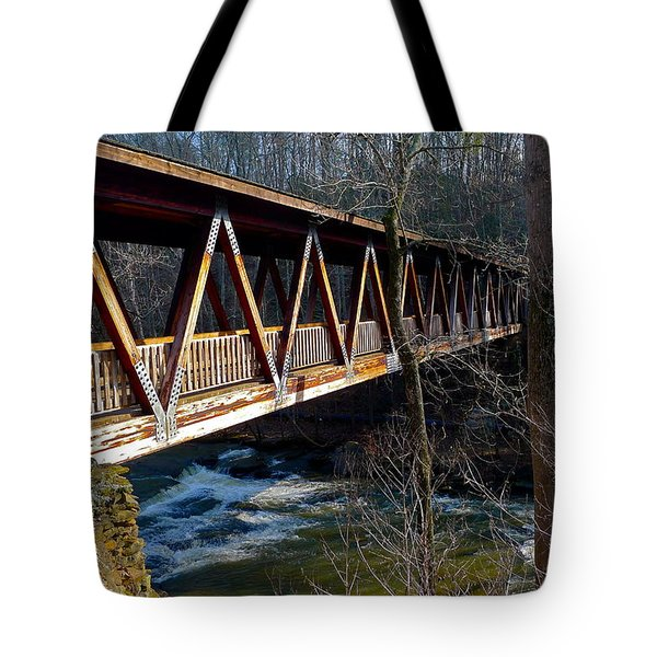 Covered Bridge In Roswell Tote Bag