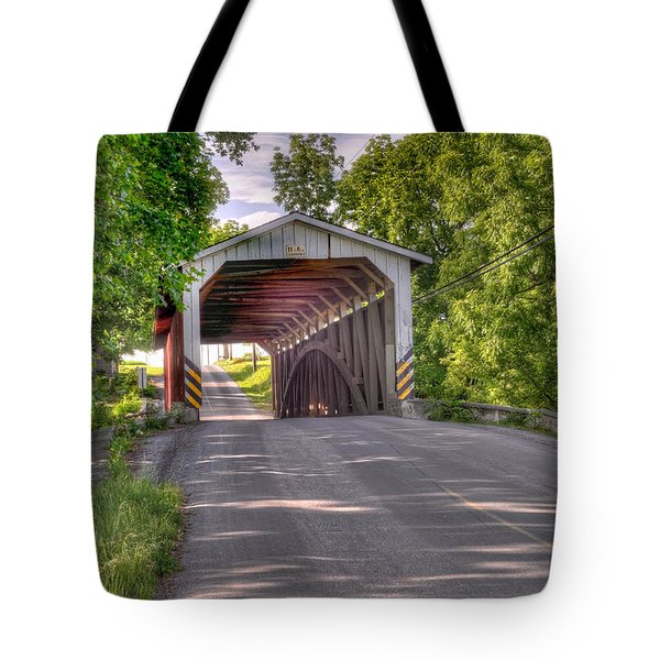 Tote Bag featuring the photograph Covered Bridge by Jim Thompson