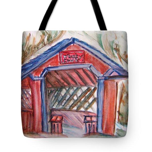 Covered Bridge Loretto Kentucky Tote Bag by Elaine Duras
