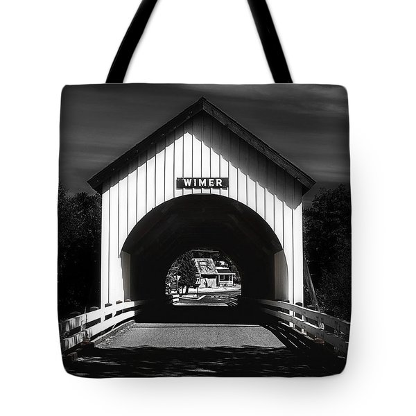 Covered Bridge Tote Bag by Melanie Lankford Photography