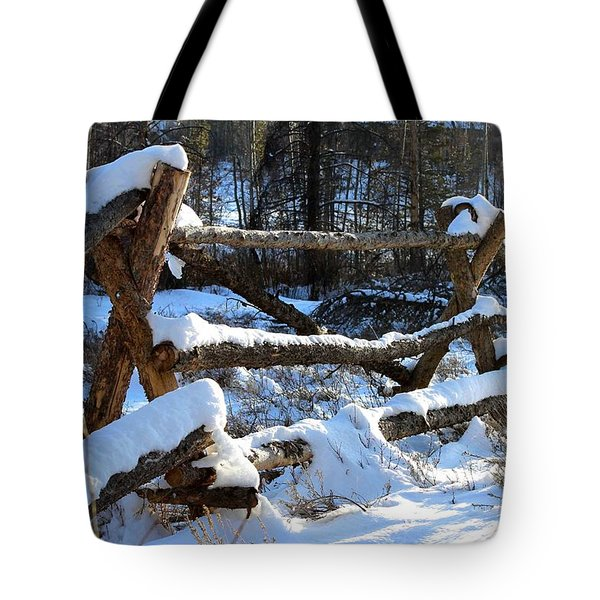 Covered In Snow Tote Bag by Fiona Kennard