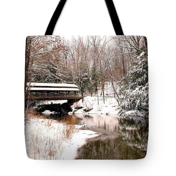 Covered In Snow Tote Bag