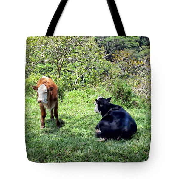 Tote Bag featuring the photograph Cow 4 by Dawn Eshelman