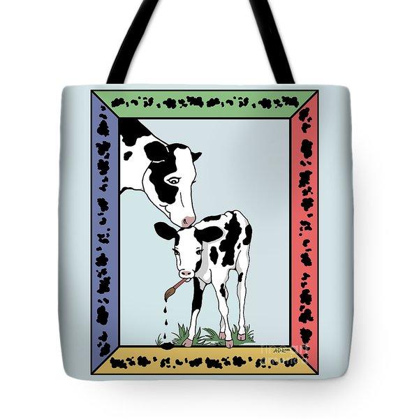 Cow Artist Cow Art Tote Bag by Audra D Lemke