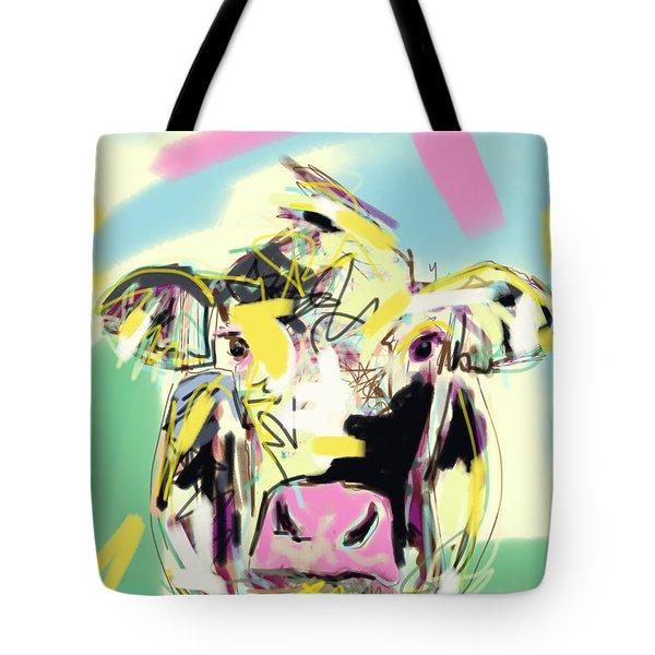 Cow- Happy Cow Tote Bag