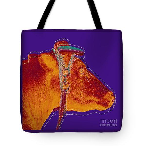 Cow Pop Art Tote Bag by Jean luc Comperat