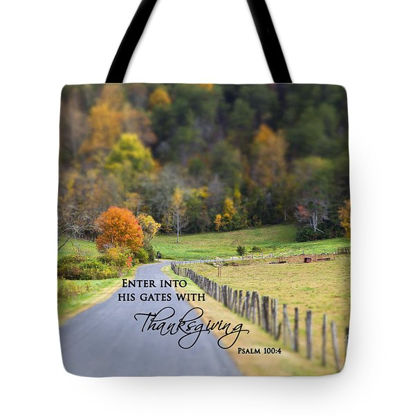 Cow Pasture With Scripture Tote Bag