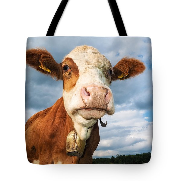 Cow Portrait Tote Bag
