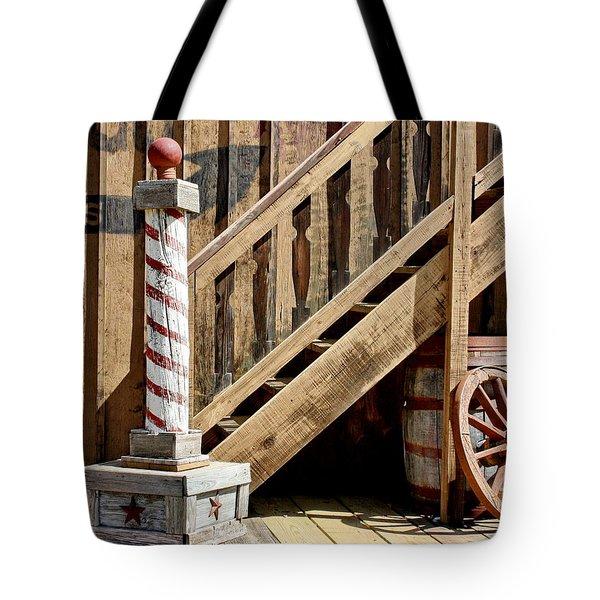 Cowboy Barbershop Tote Bag