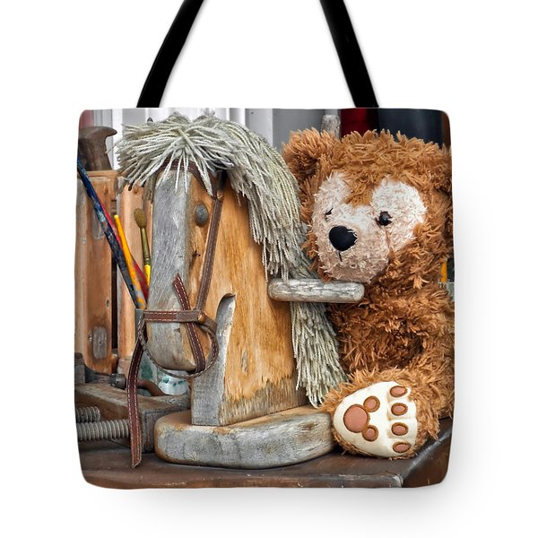 Tote Bag featuring the photograph Cowboy Bear by Thomas Woolworth