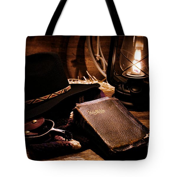 Cowboy Bible Tote Bag
