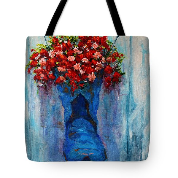 Cowboy Boot Unusual Pot Series  Tote Bag