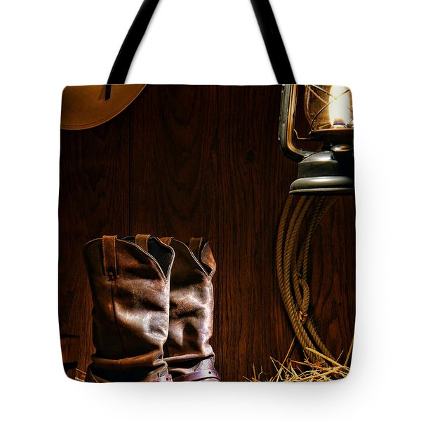 Cowboy Boots At The Ranch Tote Bag