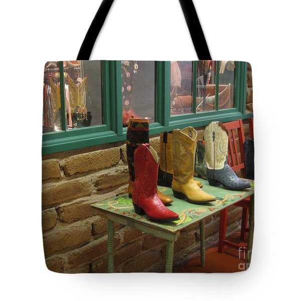 Tote Bag featuring the photograph Cowboy Boots by Dora Sofia Caputo Photographic Art and Design