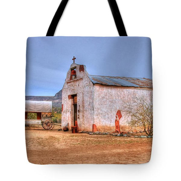 Cowboy Church Tote Bag