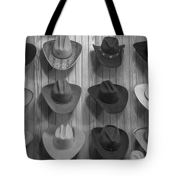 Cowboy Hats On Wall In Nashville  Tote Bag