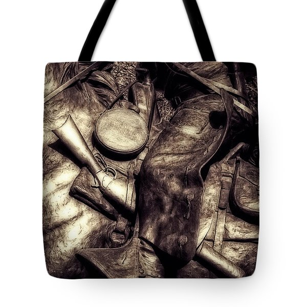 Cowboy In Bronze Tote Bag
