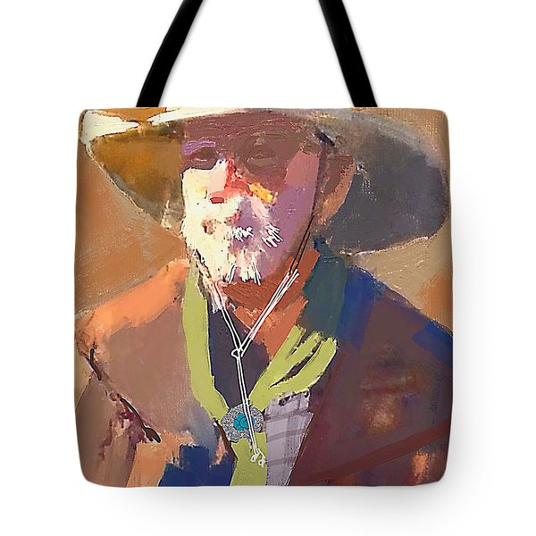 9e0d7a12a0ce Tote Bag featuring the painting Cowboy Sketch by Craig Nelson