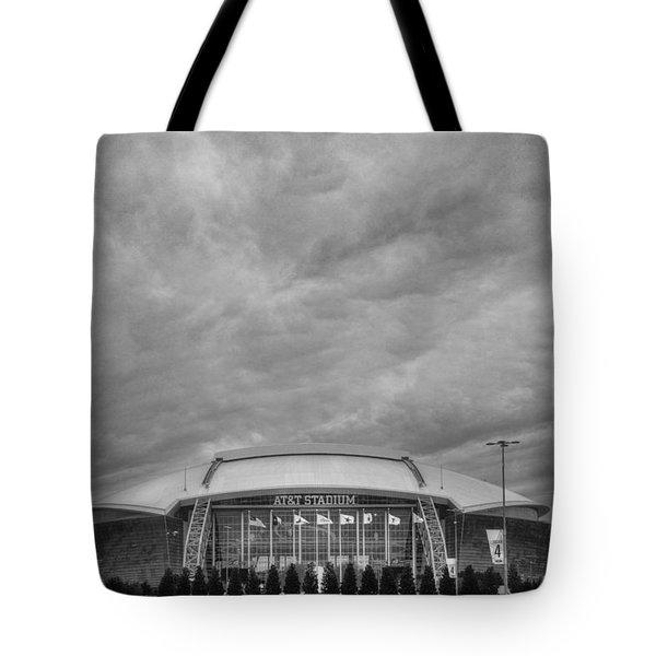 Cowboy Stadium Bw Tote Bag
