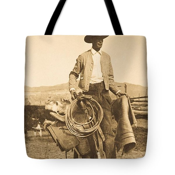 a3a4b67b9877 Tote Bag featuring the photograph Cowboy Up by Craig Nelson