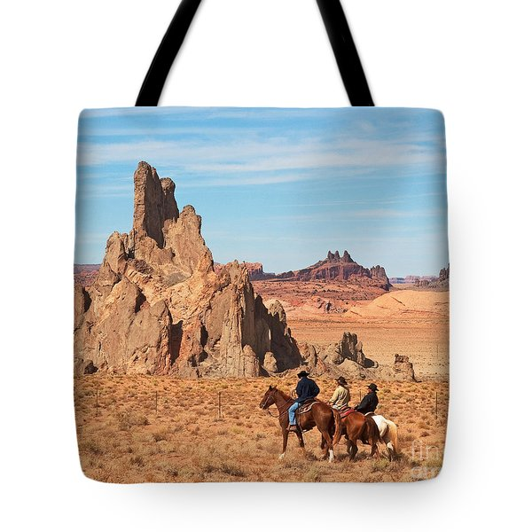 Cowboys Tote Bag by Bob and Nancy Kendrick
