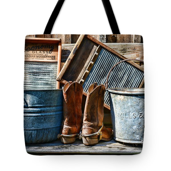 Cowboys Have Laundry Too Tote Bag by Paul Ward